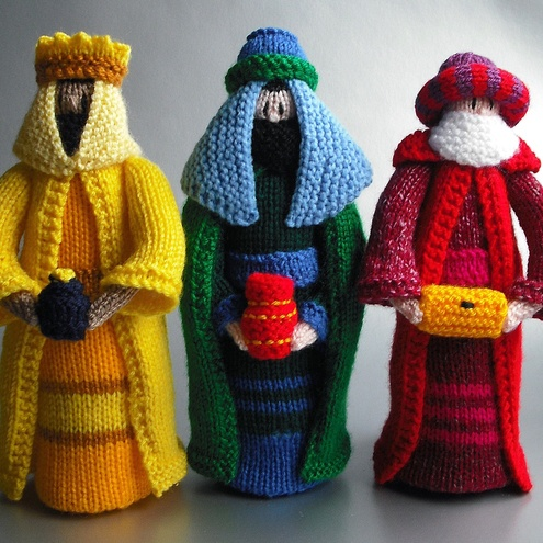 Hand knitted nativity scene Change 3, Knits and Hands