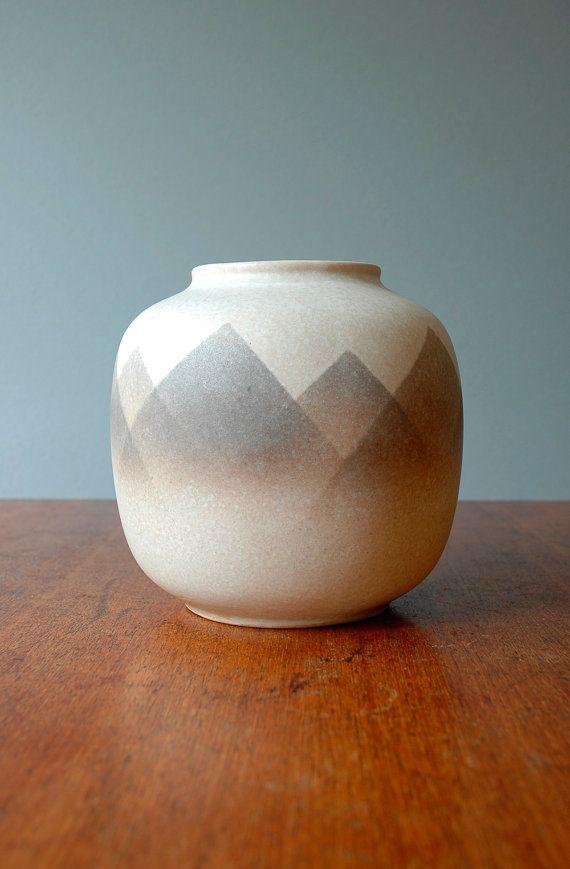 Vintage E. German Pottery Vase - VEB Haldensleben