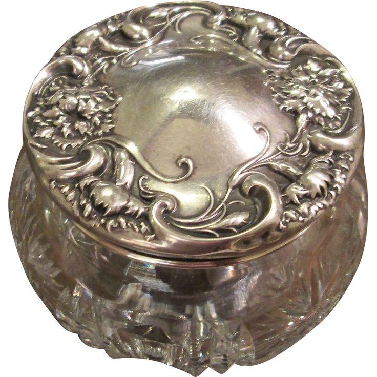 8 Best Sterling Silver Dressing Table Jars Images On