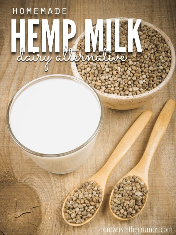 There's just 2 ingredients in homemade hemp milk and a good option to almond milk. No added sugar, all the benefits of hemp seeds and great for cooking too! :: DontWastetheCrumbs.com