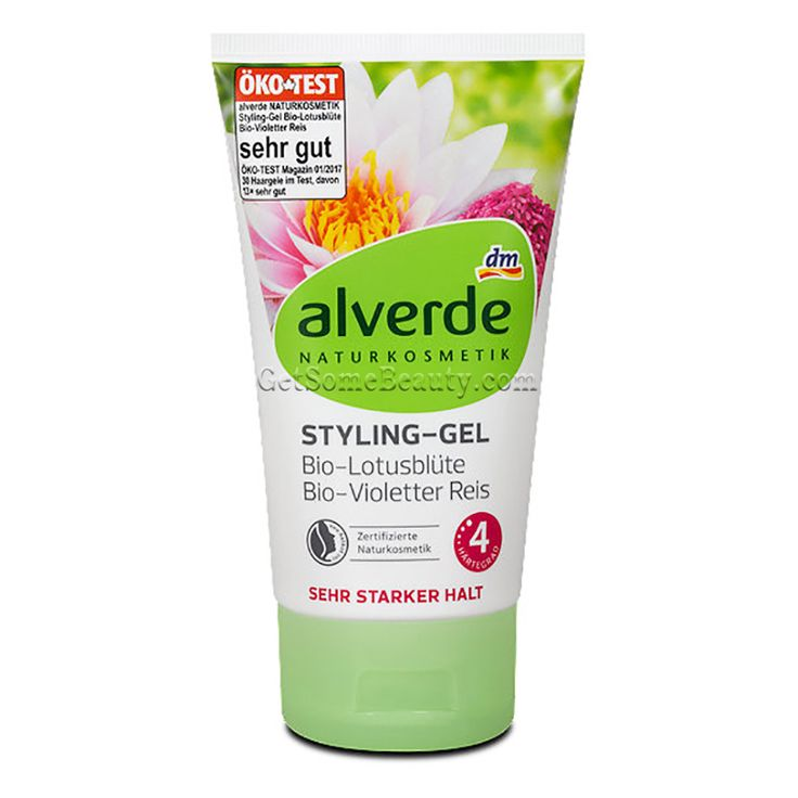 ALVERDE Natural Cosmetics Styling Gel Organic Lotus Flower Extract & Purple Rice 150 ml | Get Some Beauty