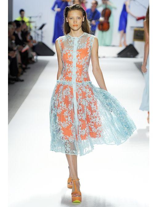 nanette lepore contrast lace dress.
