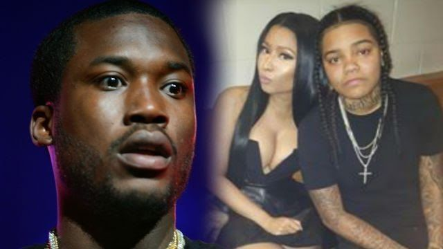 YOUNG M.A. HAD HER BRAIDS TIED UP IN A PONYTAIL SO YOU KNOW IT WAS GOING DOWN  Said one man who heard Meek Mill scream after walking in on the two making lesbian love.  Meek Mill walked in on Young M.A. going down on his girlfriend Nicki Minaj while they were waiting to perform for Powerhouse in New York.  THE SHEER AMOUNT OF LS THIS YOUNG MAN MEEK MILL HAS RECEIVED WITHIN LESS THAN A YEARS TIME IS AMAZING.  Young M.A. says it was either go down on her or buy her a d1ldo because she just…