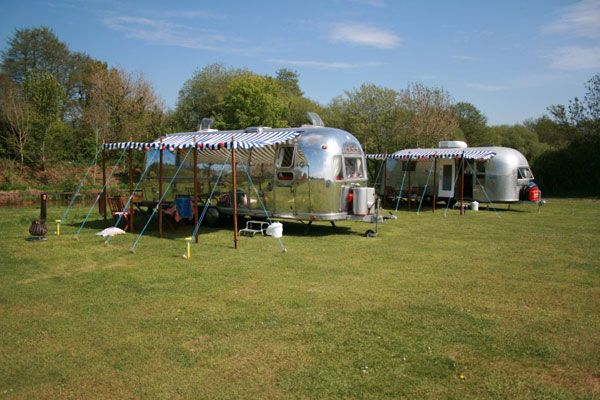 Dorset.  Airstream caravans near sandy beaches and the New Forest.