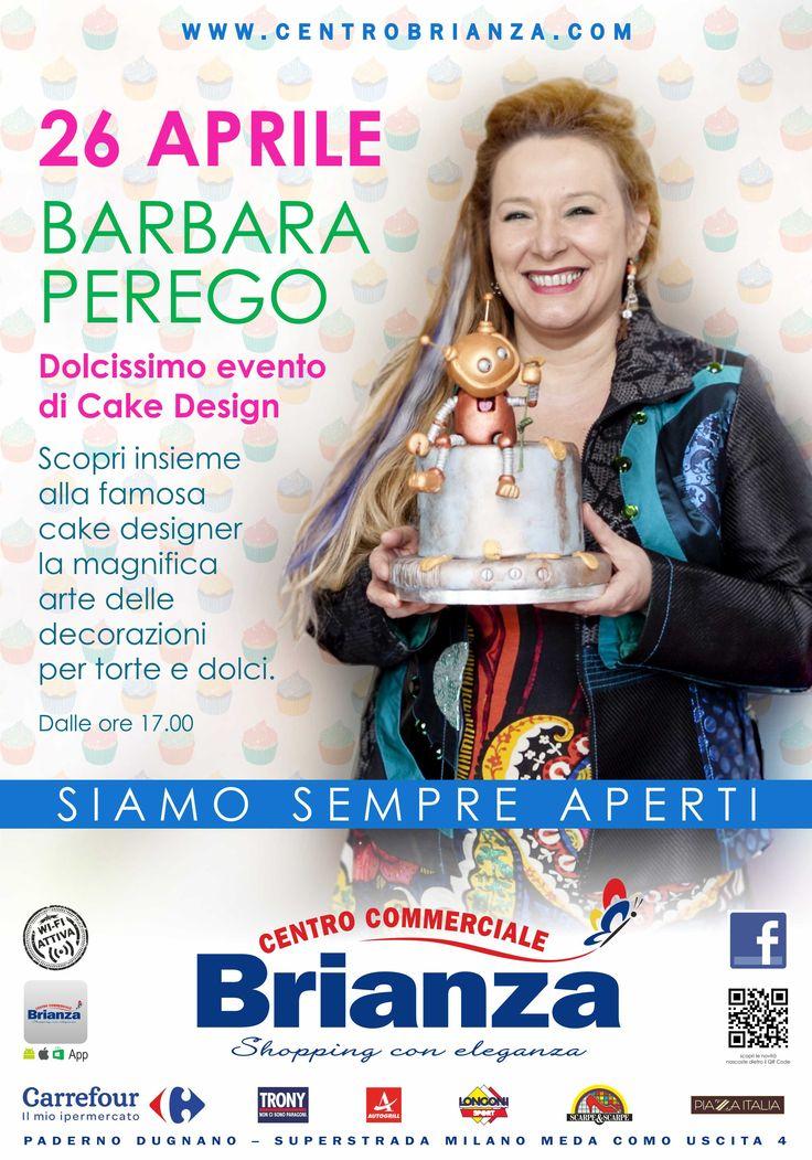 Workshop gratuiti di cake design il 26 aprile a Paderno Dugnano, al Centro Commerciale Brianza. Vi aspetto!