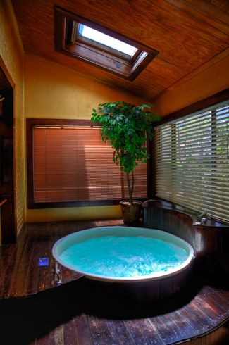 indoor private hot tub