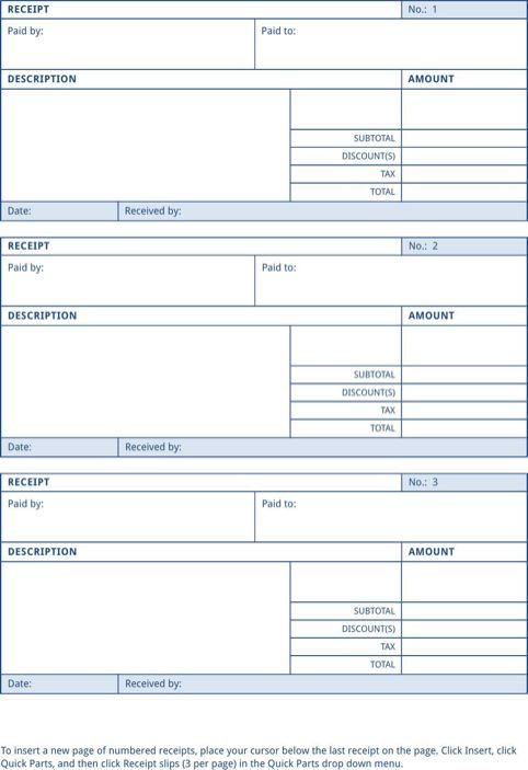 442 best Templates\Forms images on Pinterest Role models - office receipt template