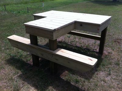 Two person shooting table