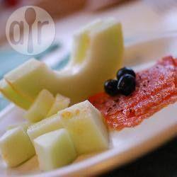 Antipasto di salmone e melone profumato allo zenzero