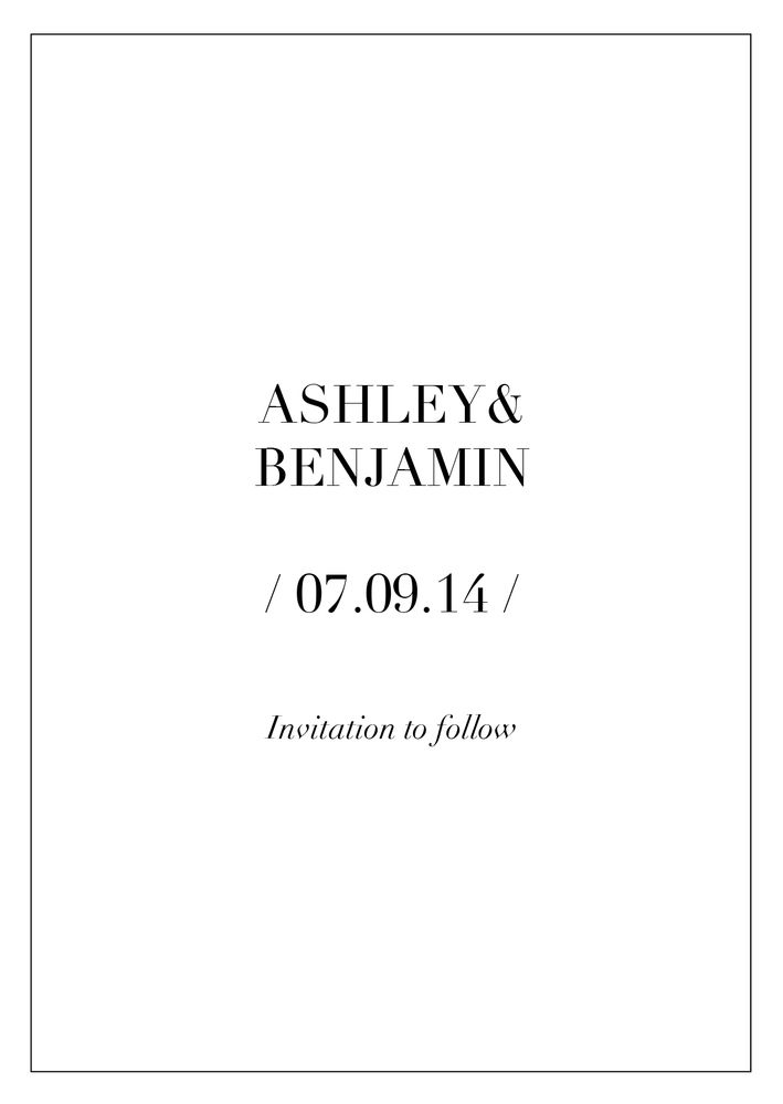 Simple and clean minimalistic #Love Photo Wedding Invite Invitation Save The Date Forehead #Kiss  www.fortheloveofstationery.com  #savethedate #weddings