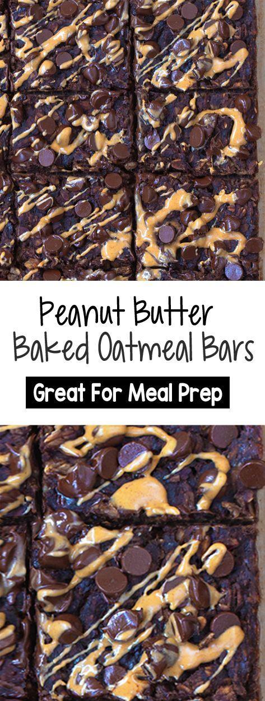 Schokoladen-Erdnussbutter-Brownie-Haferflocken-Riegel zum Mitnehmen, ideal für die Zubereitung von Mahlzeiten