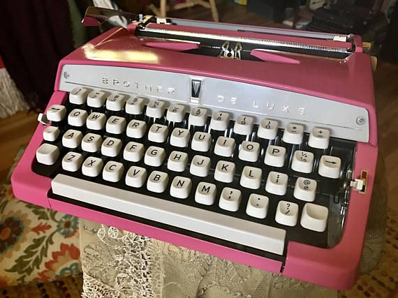 Vintage, fully functioning, Candy Pink Brother Deluxe Typewriter