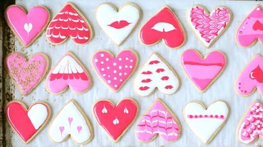 Resultado de imagem para galletas decoradas con glase paso a paso san valentin