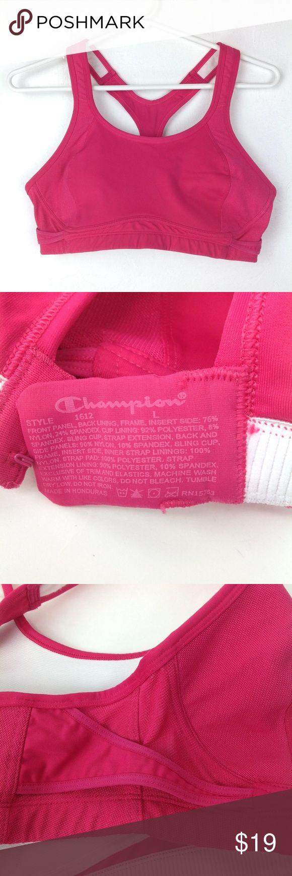 Hot pink Champion sports bra Champion sports bra, back clasp, size L Champion In…