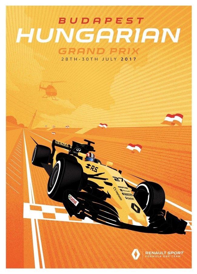 Renault Sport F1 Team poster Grand Prix van Hongarije - 2017