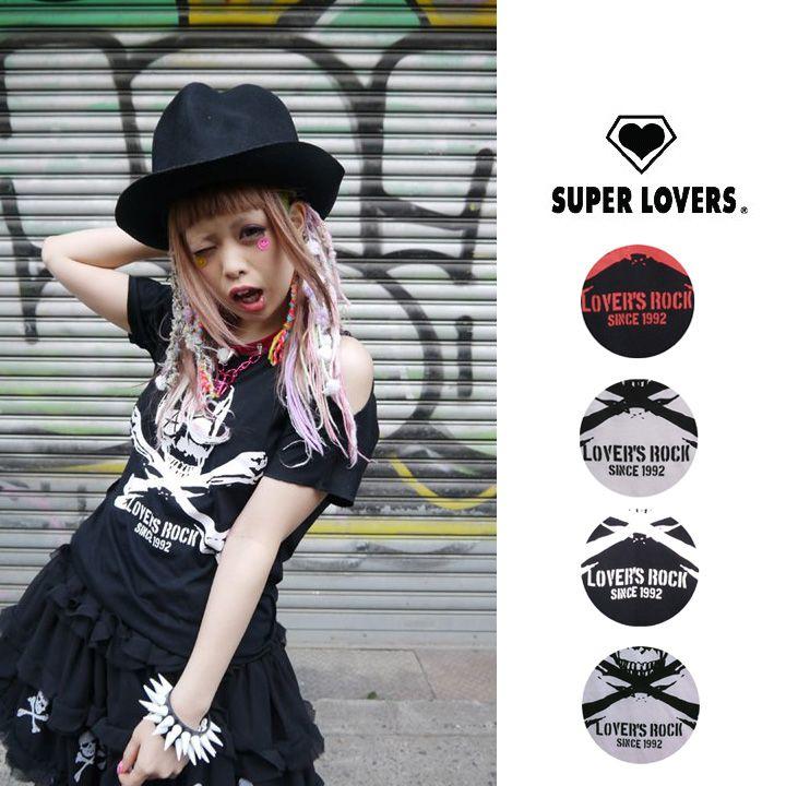 【楽天市場】★SUPER LOVERSLOVER'SROCK【2014SS新作】スカルPUNKTシャツ/10P13Jun14:SUPER LOVERS ONLINE SHOP