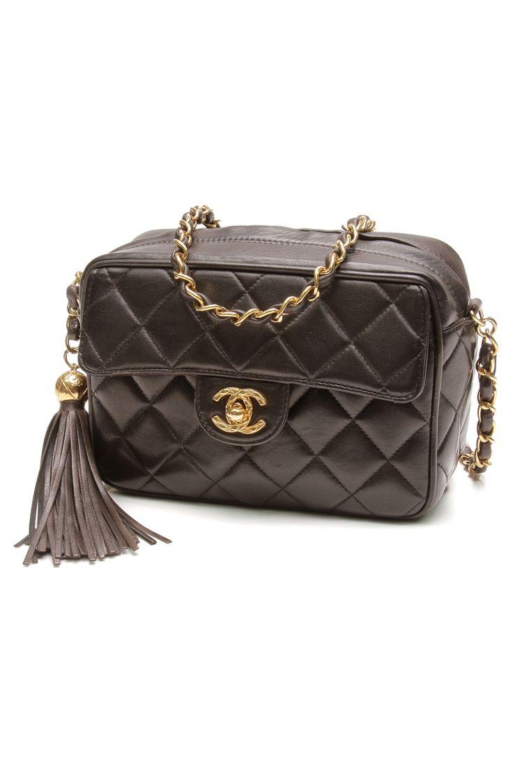 Chanel handbag superb vintage chanel bag vintage leather - Chanel Vintage Dark Purple Quilted Lambskin Flap Shoulder Bag