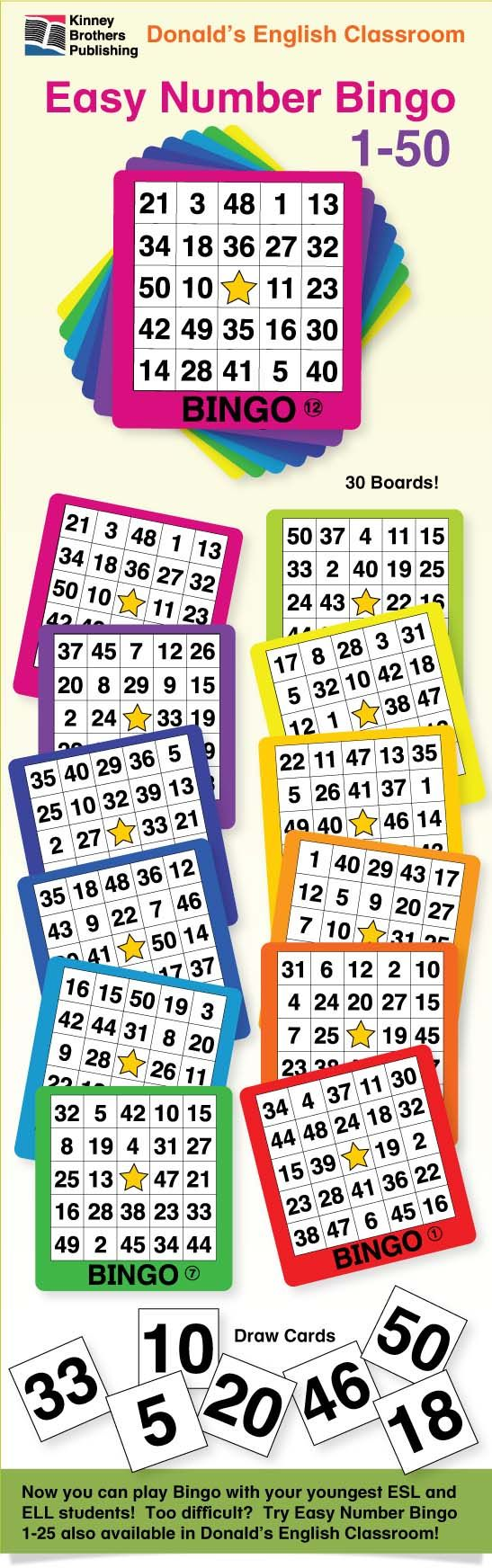Easy Number Bingo 150 allows me to play number Bingo with