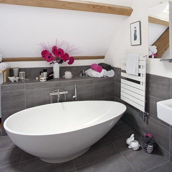 Moderne Badezimmer mit eiförmige Badewanne Wohnideen Badezimmer Living Ideas Bathroom