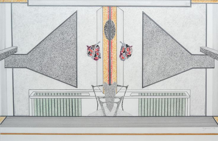 "Kent Jones, ""Chimney,"" colour drawing, 10"" x 15"", $525.00"