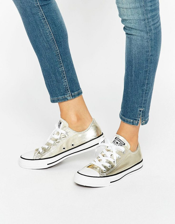 Image 1 of Converse Light Gold Metallic Chuck Taylor All Star Ox