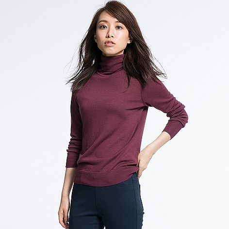 WOMEN Extra Fine Merino Turtle Neck Sweater (14 colours)