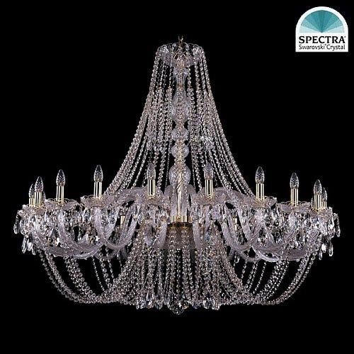 Люстра Большая Bohemia Ivele Crystal 1406/20/530-125/G swarovski - купить по лучшим ценам в интернет-магазине Декор и Свет
