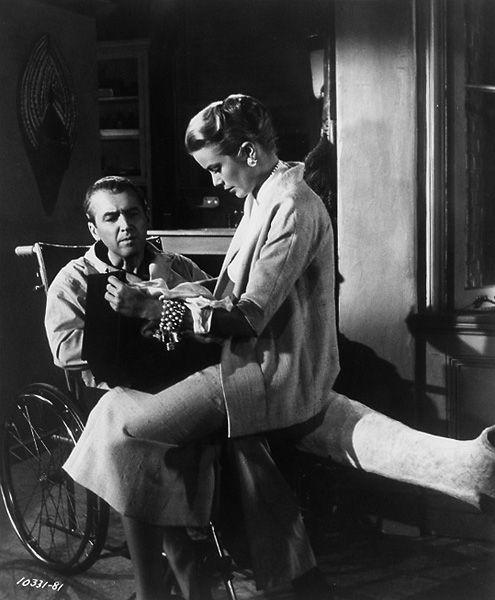 Grace Kelly and James Stewart in a studio portrait for Rear Window