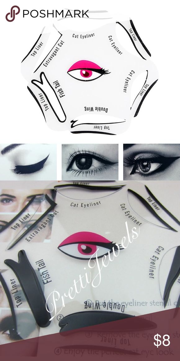 Eyeliner Stencil Wheel 6 Styles Cat eye x3, fishtail, extravagant,double Wing ✨BRAND NEW ✨  ❗️NO TRADES❗️  Will ship Tues-Thurs, due to holiday Monday/other orders/life duties  _____________ lash eyelash makeup falsies false eyelashes face eyes beauty eyeshadow eyeliner big black mink mascara natural house of lashes noir fairy dupe ardell Victoria's Secret wispies wispy tigress  Tutorial guide makeup eyes stencils eyebrow Jackets & Coats
