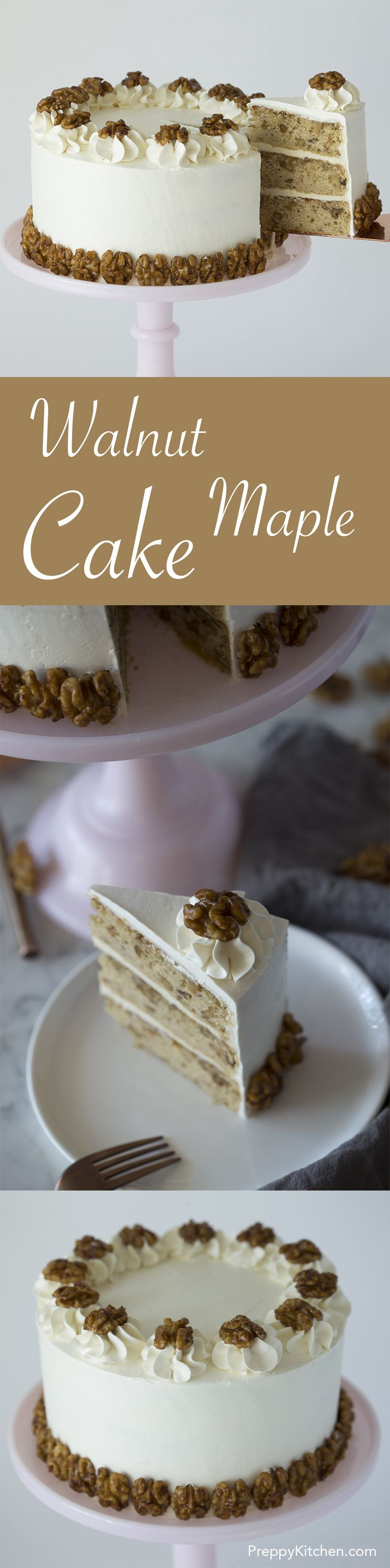 Walnut Maple Cake via @preppykitchen