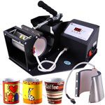 Mug Printing Sublimation Heat Transfer Press Machine Black