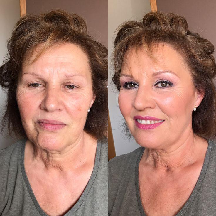 Maquillaje piel madura.tonos rosas.sin filtros