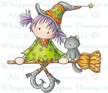 Broom Ride - Halloween Images - Halloween - Rubber Stamps - Shop
