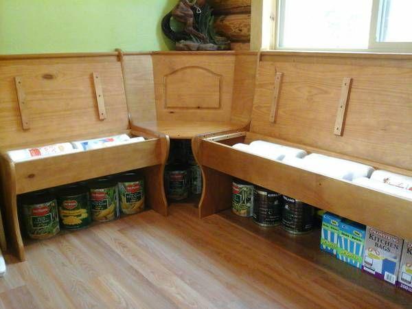 37 best images about kitchen on pinterest bench storage nooks and breakfast nooks - Kitchen nooks with storage ...