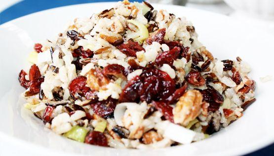 vegetarisch recept wilde rijst cranberries granaatappel pistache