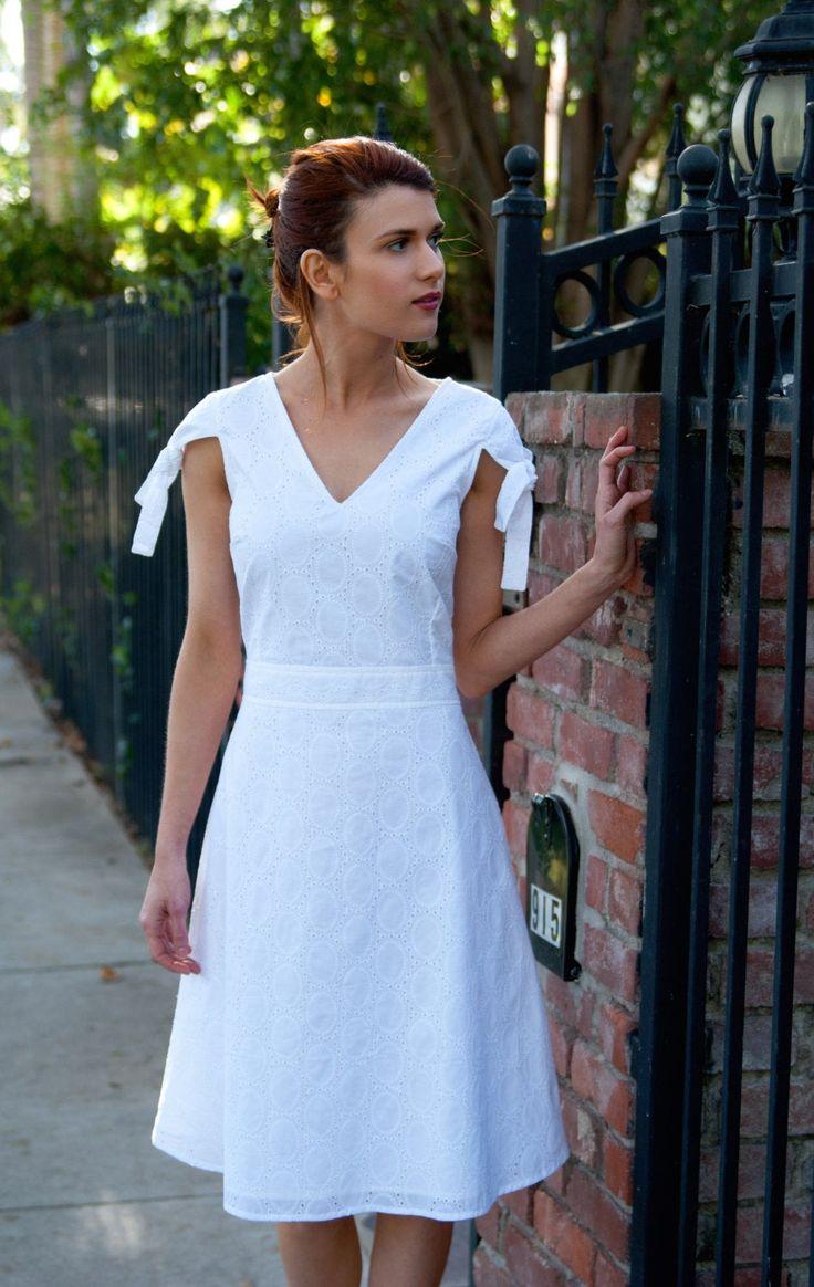 Knee Length Wedding Dress White Midi Dress White Sun Dress Etsy Knee Length Wedding Dress Wedding Dress Fabrics White Midi Dress [ 1164 x 736 Pixel ]