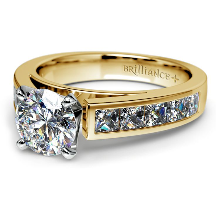 There's no time like the present to treat your one and only to the promise of a lifetime. Present her with the sparkling elegance of the Channel Diamond Engagement Ring in classic Yellow Gold!  http://www.brilliance.com/engagement-rings/princess-channel-diamond-ring-yellow-gold-1-ctw