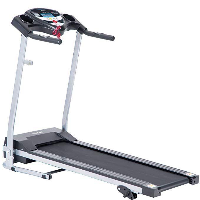Amazon Com Merax Jk1603e Easy Assembly Folding Electric Treadmill Motorized Running Machine Black Good Treadmills Best Treadmill For Home Treadmill Reviews