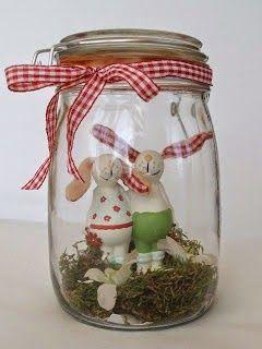 apró gyönyörűségek: Húsvéti dekor befőttes üvegből