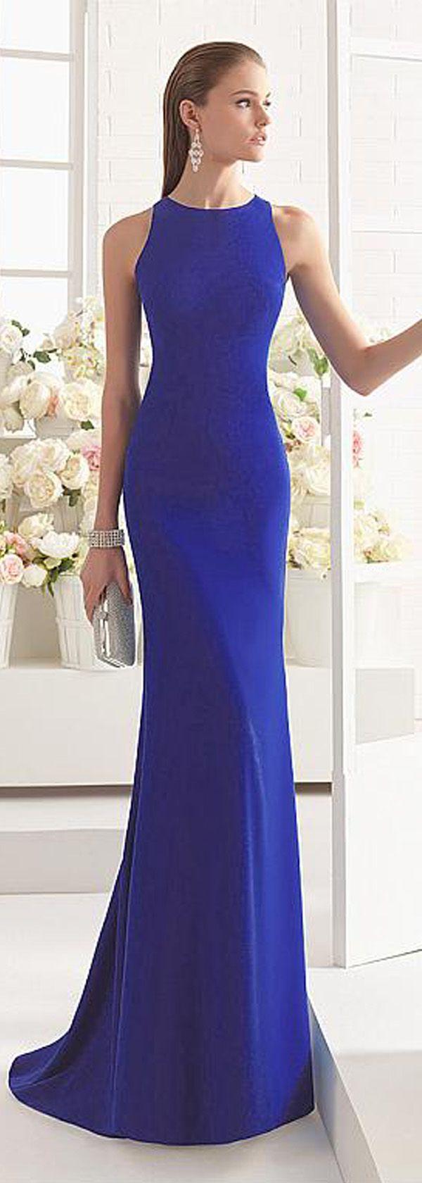 Hot Sale Acetate Satin Jewel Neckline Mermaid Evening Dresses