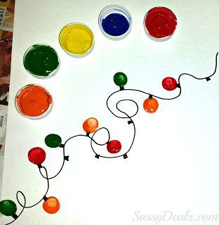 Fingerprint Christmas Light Craft For Kids (DIY Christmas Card Idea!) - Crafty Morning