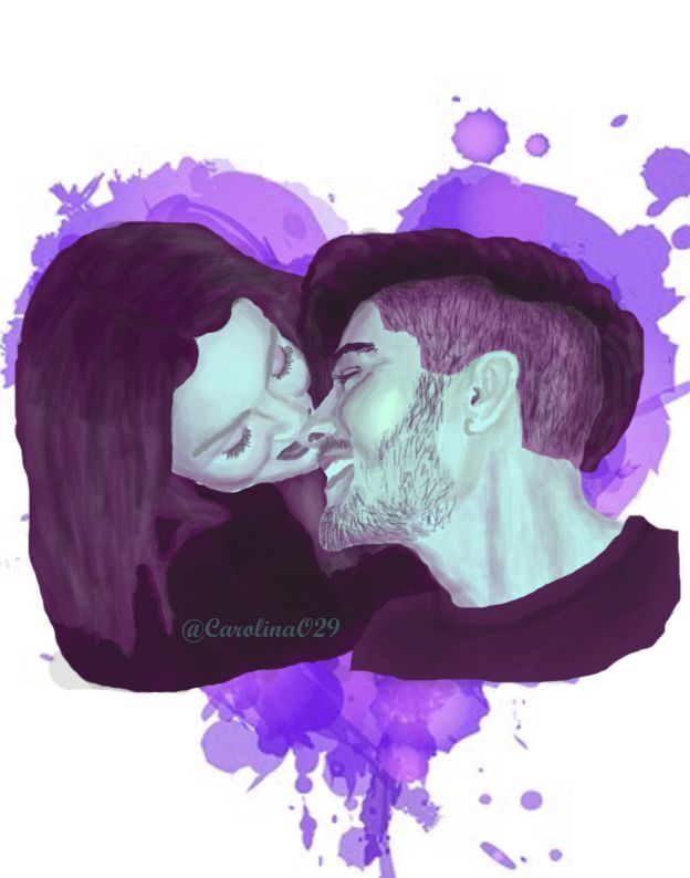 Digital Drawing of Zayn and Perrie