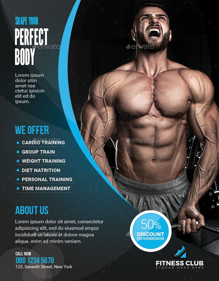 Fitness Flyer Fitness Flyer Gym Advertising Gym Poster