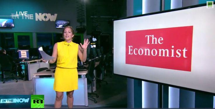 RT-Moderation Anissa Naouai (In the Now) nimmt Schritt für Schritt einen Artikel des THE ECONOMIST zur Wirtschaftslage in Russland auseinander, und zeigt beispielhaft auf, wie westliche Medien Propagandartikel gegen Russland fabrizieren, auf Unkenntnis und fehlende Russisch Kenntnisse der Leser spekulierend. http://globist.de Quelle: RT