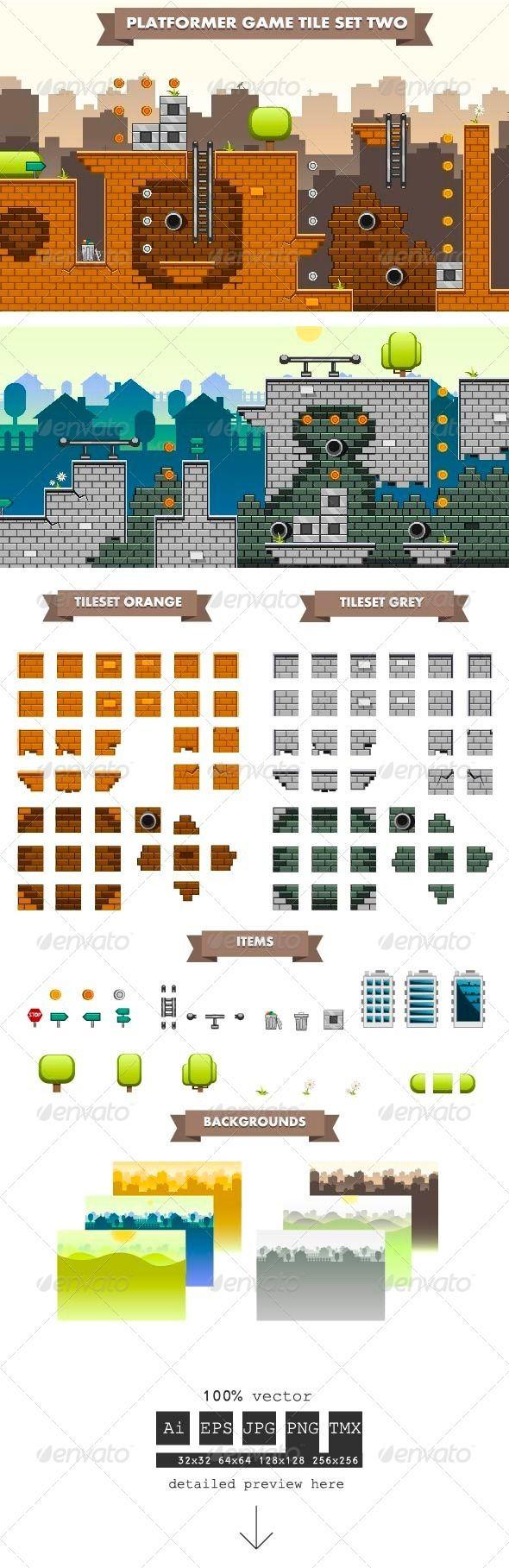 Platformer+Game+Tile+Set+Two