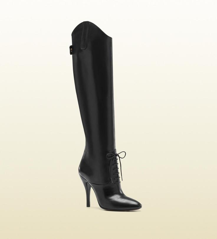 Gucci - bottes d'équitation à talons hauts elizabeth Automne-hiver 2012