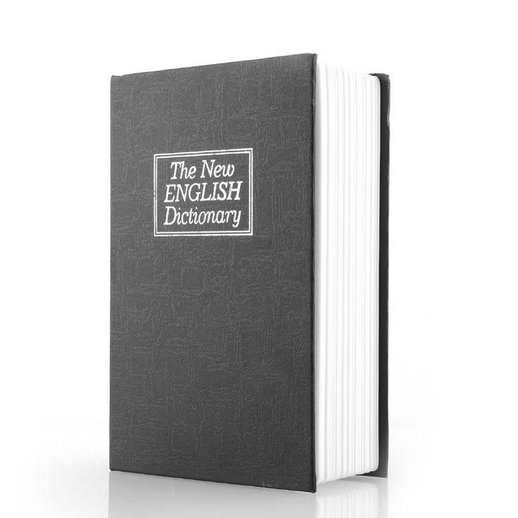 New Arrival Deluxe Black Secret Dictionary Book Safe Money Hidden Box Security Lock Key Lock Strongbox