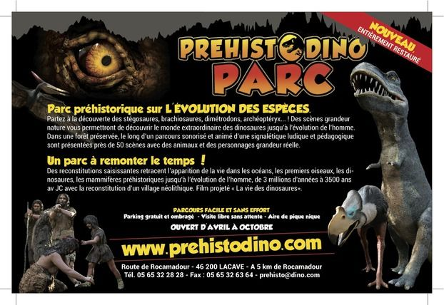 Préhisto-Dino Parc in Lacave | Vallée de la Dordogne - Rocamadour - Padirac |