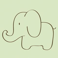 simple elephant drawing - Google Search