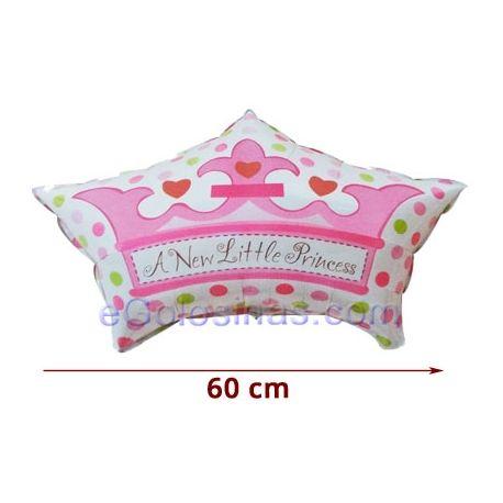 GLOBO con formade Corona de Princesade 60cm de ancho y 43 cm de alto aprox. Es perfecto para decorar un baby shower de niña o de niño o la fiesta de bienvenida del bebé o bien tu Fiesta de Cumpleaños de princesas  Los globos se venden sin inflar.Puedes inflarlo con aire o con helio. Para que se floten en el aire deberán rellenarse con helio.   GLOBO con formade Corona de Princesade 60cm de ancho y 43 cm de alto aprox. Es perfecto para decorar un baby shower de niña o de niño o la…